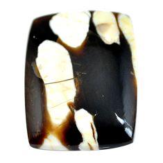 Natural 24.35cts peanut petrified wood fossil 28x21 mm loose gemstone s11045