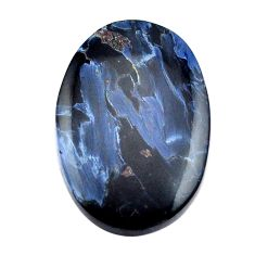 Natural 16.30cts pietersite (african) black 26x17.5mm oval loose gemstone s14895