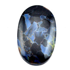 Natural 24.35cts pietersite (african) black 30x18 mm oval loose gemstone s14893