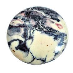Natural 32.40cts porcelain jasper (sci fi) grey 30x30 mm loose gemstone s10986