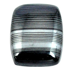 Natural 10.15cts psilomelane black cabochon 16x12.5 mm loose gemstone s14088