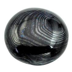 Natural 13.45cts psilomelane black cabochon 17x17 mm oval loose gemstone s13898