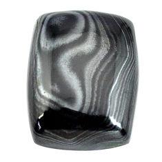 Natural 15.10cts psilomelane black cabochon 18x13.5 mm loose gemstone s14091