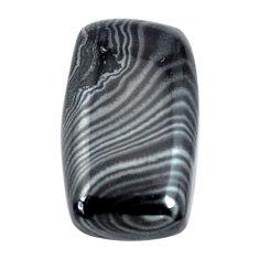 Natural 8.40cts psilomelane black cabochon 18x10mm octagan loose gemstone s14097
