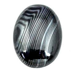 Natural 15.15cts psilomelane black cabochon 21.5x15mm oval loose gemstone s14073
