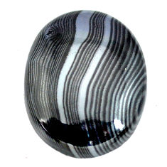 Natural 15.10cts psilomelane black cabochon 21x16.5mm oval loose gemstone s14075