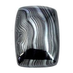 Natural 10.05cts psilomelane black cabochon 22x15 mm loose gemstone s14094