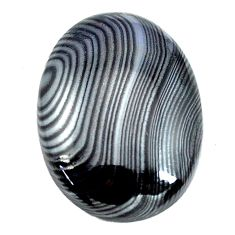 Natural 15.10cts psilomelane black cabochon 22x16 mm oval loose gemstone s14069