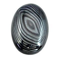 Natural 16.30cts psilomelane black cabochon 23x16 mm oval loose gemstone s14058