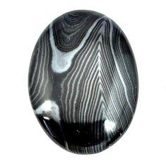 Natural 24.45cts psilomelane black cabochon 30x21 mm oval loose gemstone s14041