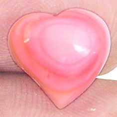 Natural 5.10cts queen conch shell pink 11x12 mm heart loose gemstone s11727