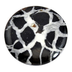 Natural 27.40cts septarian gonads black cabochon 28x28 mm loose gemstone s15023