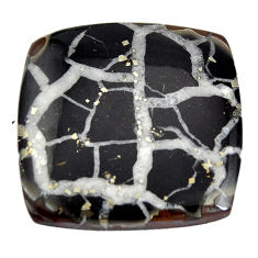 Natural 32.35cts septarian gonads brown cabochon 26x26 mm loose gemstone s15042