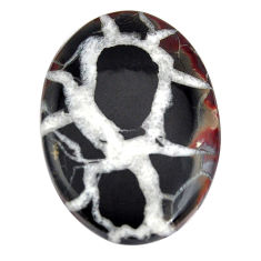 Natural 21.35cts septarian gonads brown cabochon 30x20 mm loose gemstone s15047
