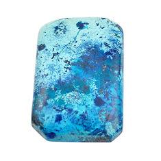 Natural 21.30cts shattuckite blue cabochon 27x18mm octagan loose gemstone s14609