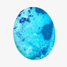 Natural 30.10cts shattuckite blue cabochon 36x26 mm oval loose gemstone s14576