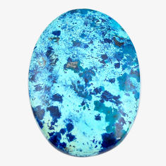 Natural 35.05cts shattuckite blue cabochon 37x26 mm oval loose gemstone s14582