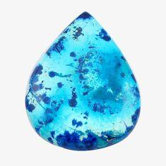 Natural 35.10cts shattuckite blue cabochon 39x29 mm pear loose gemstone s14575