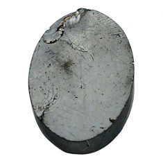 Natural 6.30cts shungite black cabochon 16x12 mm oval loose gemstone s13932