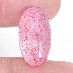 Natural 9.45cts strawberry quartz red cabochon 20x10 mm loose gemstone s10411