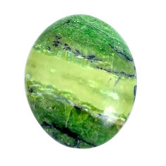 Natural 10.30cts swiss imperial opal green 22x17.5 mm oval loose gemstone s10967