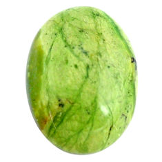 Natural 13.45cts swiss imperial opal green 23x17 mm round loose gemstone s14396
