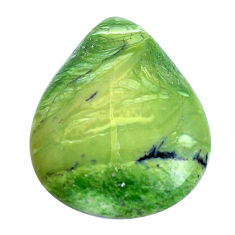 Natural 11.30cts swiss imperial opal green 26x21 mm pear loose gemstone s10968