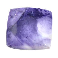 Natural 29.45cts tiffany stone purple cabochon 24x24 mm loose gemstone s14697