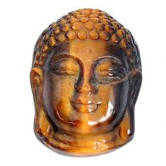 Natural 20.10cts tiger's eye brown 22x16 mm buddha face loose gemstone s10101