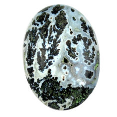 Natural 23.45cts tree agate white cabochon 29x20 mm oval loose gemstone s13181