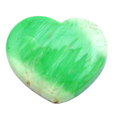 Natural 11.30cts variscite green cabochon 16x18 mm heart loose gemstone s14864