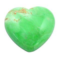 Natural 21.30cts variscite green cabochon 20x22 mm heart loose gemstone s14867