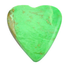 Natural 13.45cts variscite green cabochon 21x20 mm heart loose gemstone s14862