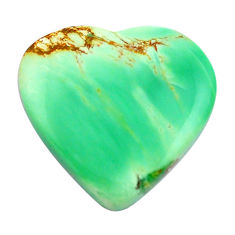Natural 17.35cts variscite green cabochon 22x22 mm heart loose gemstone s14866