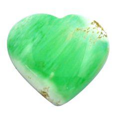 Natural 26.30cts variscite green cabochon 22x25 mm heart loose gemstone s14865
