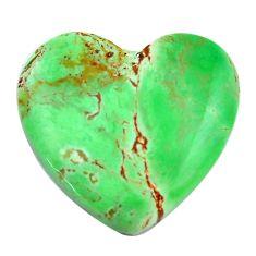 Natural 23.45cts variscite green cabochon 24x25 mm heart loose gemstone s14848