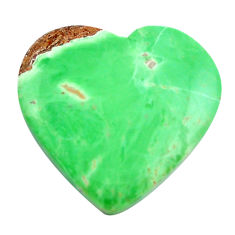Natural 27.35cts variscite green cabochon 25x26 mm heart loose gemstone s14863