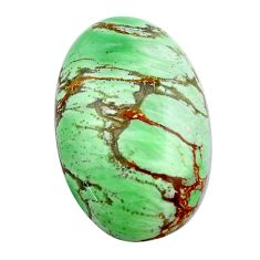 Natural 21.25cts variscite green cabochon 26x17 mm oval loose gemstone s14850