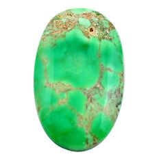Natural 21.25cts variscite green cabochon 31x18 mm oval loose gemstone s14855