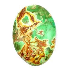 Natural 25.10cts variscite green cabochon 31x21 mm oval loose gemstone s14844