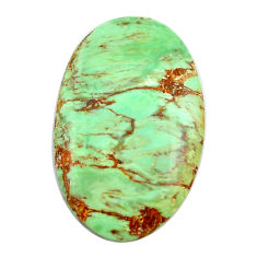 Natural 23.35cts variscite green cabochon 33.5x20 mm oval loose gemstone s14860