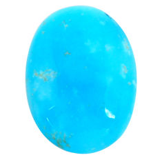13.45cts smithsonite blue cabochon 22x15 mm oval loose gemstone s14350