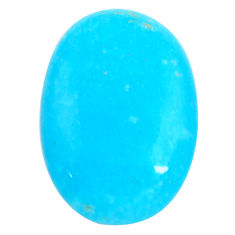 18.45cts smithsonite blue cabochon 25x17 mm oval loose gemstone s14348