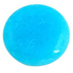 42.40cts smithsonite blue cabochon 32x32 mm oval loose gemstone s14337