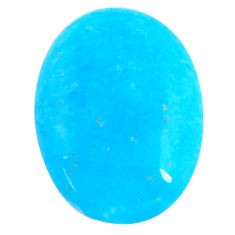 38.45cts smithsonite blue cabochon 35x26 mm oval loose gemstone s14334