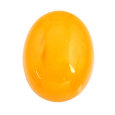 amber bone yellow cabochon 18x14 mm oval loose gemstone s15682