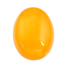 Natural 5.15cts amber bone yellow cabochon 17x13 mm oval loose gemstone s15683