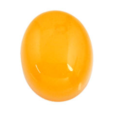 amber bone yellow cabochon 16x13 mm oval loose gemstone s15685