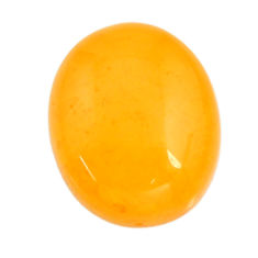 amber bone yellow cabochon 16x13 mm oval loose gemstone s15686