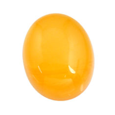 amber bone yellow cabochon 16x13 mm oval loose gemstone s15689